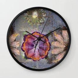 Stickball Au Naturel Flower  ID:16165-150329-07211 Wall Clock
