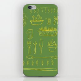 Gardening and Farming! - illustration pattern iPhone Skin