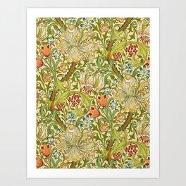William Morris Golden Lily Vintage Pre-Raphaelite Floral Art Kunstdrucke