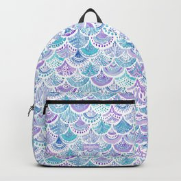 Mystical MERMAID DAYDREAMS Watercolor Scales Backpack
