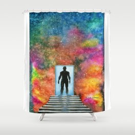 Welcome to my world Shower Curtain