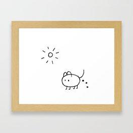 SHIT HAPPENS IN SUMMER Framed Art Print