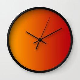 Red Orange Gradient Wall Clock