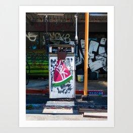 Abandoned gas station in Stanwell Park. Australia. Art Print