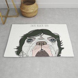 Celebrity Dogs - Jack Black-Dog Rug