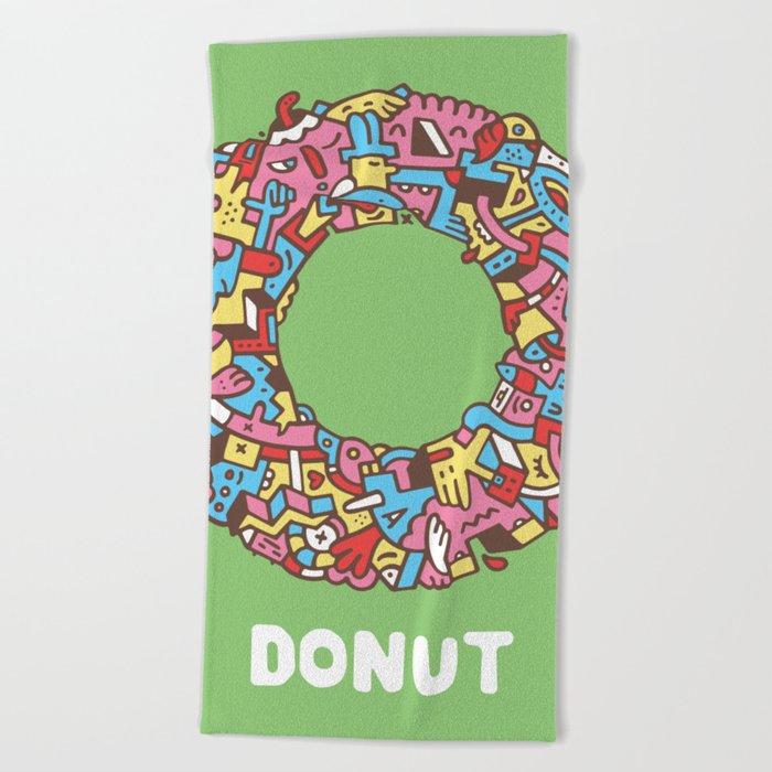 Donut Beach Towel