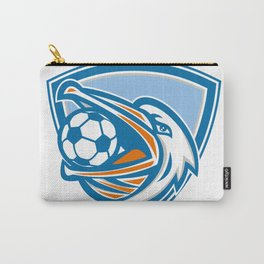 Pelican Soccer Ball In Mouth Shield Retro Carry-All Pouch