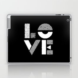 Love black and white contemporary minimalist typography design home wall decor bedroom Laptop & iPad Skin