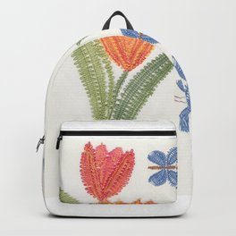 Tulipes et papillon en dentelle Backpack