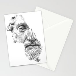 MARCUS AURELIUS ANTONINUS AUGUSTUS / black / white Stationery Cards