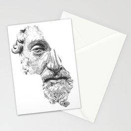 MARCUS AURELIUS ANTONINUS AUGUSTUS / black / white Stationery Cards