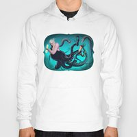 ursula Hoodies featuring Ursula by Jehzbell Black