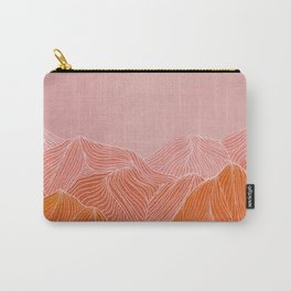 Lines in the mountains - pink II Carry-All Pouch