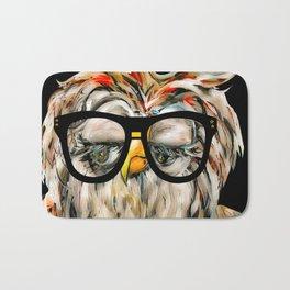 Hipster Owl Bath Mat