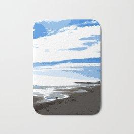 Blue sky at the beach Bath Mat