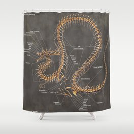Asian Lung Skeleton Anatomy Shower Curtain