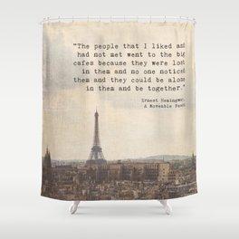 Hemingway in Paris Shower Curtain