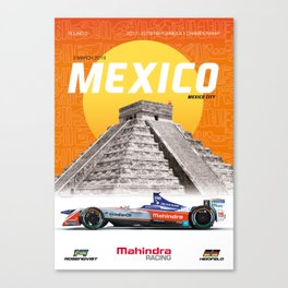 Mahindra Racing FIA Formula E Season 4 Mexico City E-Prix Poster Canvas Print