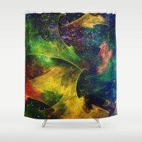 blanket Shower Curtains featuring Blanket of Stars 2 by Klara Acel