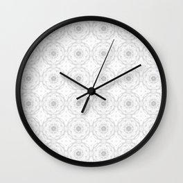 Gray Charcoal Floral Wall Clock