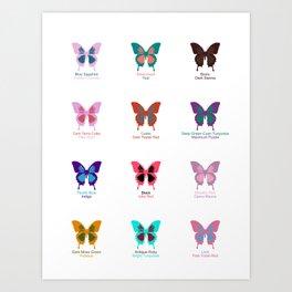 Butterflies 12 Art Print