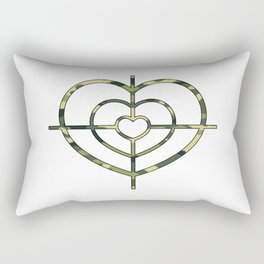 Heartscope Camo Rectangular Pillow