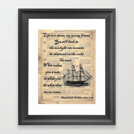 Count of Monte Cristo quote Framed Art Print