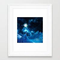frozen elsa Framed Art Prints featuring Frozen - Elsa by Thorin