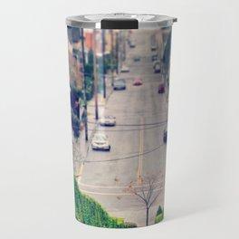 Hillside Hedges Skeleton Tree Winter Astoria Landscape Travel Mug