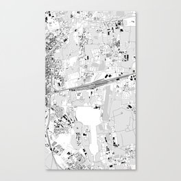 milan rhs map Canvas Print