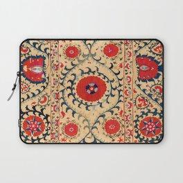Samarkand Suzani Bokhara Uzbekistan Floral Embroidery Print Laptop Sleeve