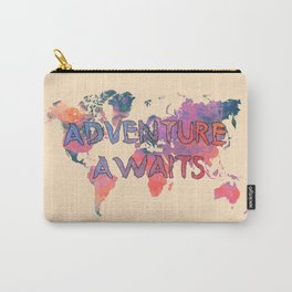 world map 91 ADVENTURE AWAITS Carry-All Pouch
