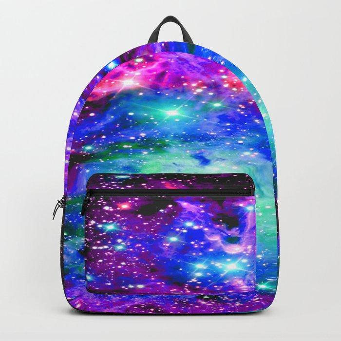 Fox Fur Nebula Galaxy Pink Purple Blue Backpack