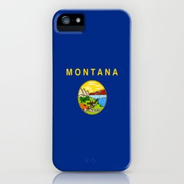 flag of montana,america,usa,big sky,treasure state, montanan,west,Billings,missoula,great falls iPhone Case