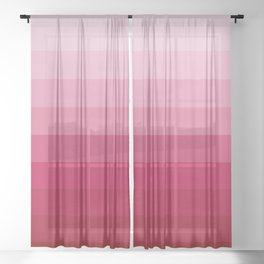 WINE RED GRADIENT Sheer Curtain