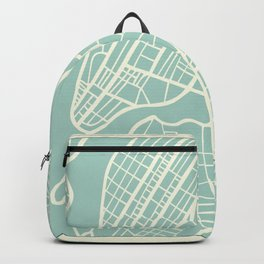 New York USA Map in Retro Style. Backpack