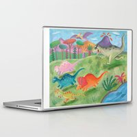dino Laptop & iPad Skins featuring dino by miremari
