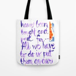 Our Crowns - James Baldwin Tote Bag
