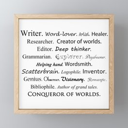 Writer Framed Mini Art Print