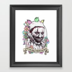 xoxo Twisty (color) Framed Art Print