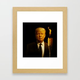 POTUS Trump's Guiding Light. Framed Art Print
