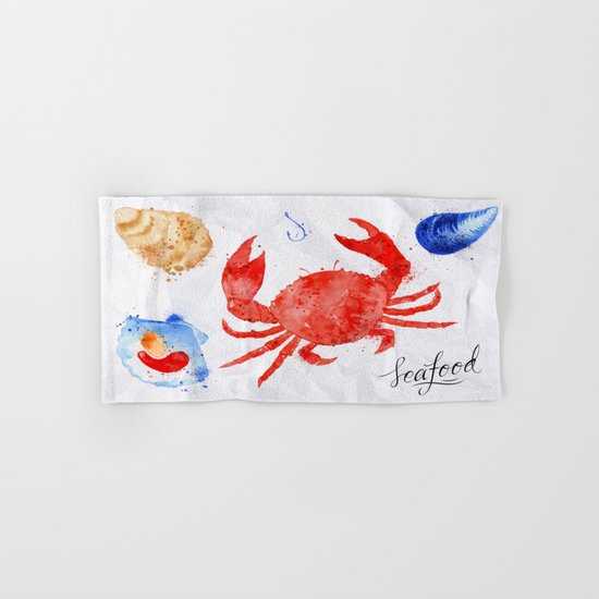 Crab Menu Hand & Bath Towel