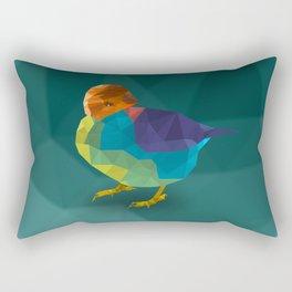 Low Poly Bird Rectangular Pillow