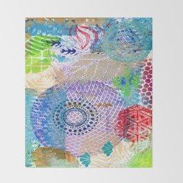 Patchwork of prints Throw Blanket