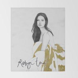 Adriana Lima Throw Blanket