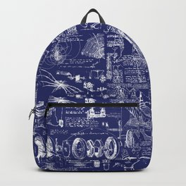 Da Vinci's Sketchbook // Dark Blue Backpack