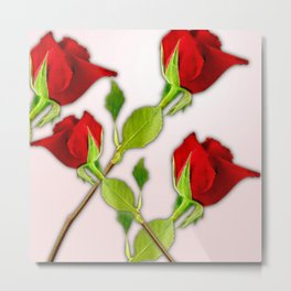 Red Rose For My Valentine Day Metal Print