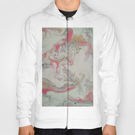 Pink and Gold Marble Print Hoody