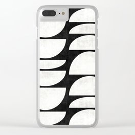 Mid-Century Modern Pattern No.8 - Concrete Clear iPhone Case