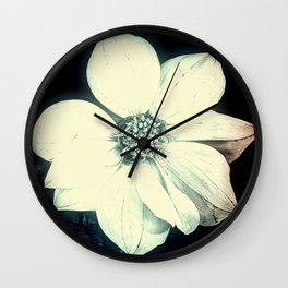 White Dahlia, Christmas Star Wall Clock